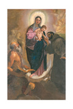 Madonna in Glory with Child and Saints Michael the Archangel Giclee Print by  Catherine of Alexandria