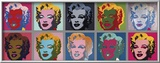 Ten Marilyns, c.1967 Framed Giclee Print by Andy Warhol