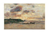 The Coast at Trouville Giclee Print by Eugène Boudin