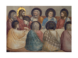 Stories of the Passion: the Last Supper Giclee Print by  Giotto di Bondone