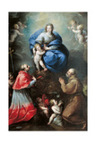 Madonna with Child and Sts Charles Borromeo and Felix of Cantalice Giclee Print by Carlo Francesco Nuvolone