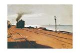 The Wharf (Il Molo) Giclee Print by Lorenzo Delleani