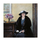 Thoughtful Woman My Wife Giclee Print by Galileo Chini