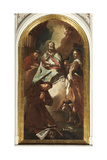 St. Bellino Between St. Charles Borromeo, Osvaldo and Francesco of Assisi Giclee Print by Giulia Lama
