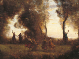 The Dance of the Nymphs Giclée-Druck von Jean-Baptiste-Camille Corot