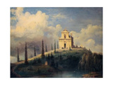 View of the Hill with the Church - Ossuary at Solferino Giclee Print by Carlo Bossoli