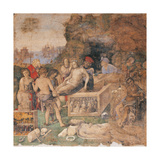 Burial of Sts Valerian and Tiburtius Giclee Print by Amico Aspertini