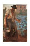 The Market Gardener (the Peasant) Gicléetryck av Giacomo Balla