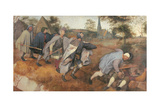 Parable of the Blind Giclee Print by Pieter il Vecchio Bruegel