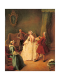 The Dancing Master Giclee Print by Pietro Longhi