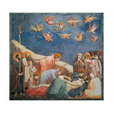 Stories of the Passion the Mourning Over the Dead Christ Giclee Print by  Giotto di Bondone