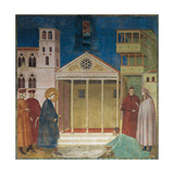 The Homage of the Simple Man Giclee Print by  Giotto di Bondone