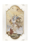 Assunta with a Glory of Angels Giclee Print by Giambattista Tiepolo