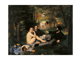 Breakfast in the Greenery Giclee Print by Édouard Manet