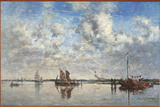 The Port of Rotterdam Giclee Print by Eugène Boudin