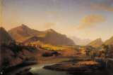 View of the Oglio River and the Mountains of Bergamo and Brescia Region Giclee Print by Marco Gozzi