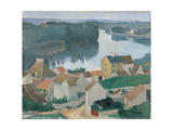 Marne Landscape Giclee Print by Fabbri Paolo Egisto