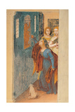 Stories of St Barbara Giclee Print by Lotto Lorenzo