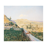 The End of August in Pietramala (Pietra Mala) Giclee Print by Telemaco Signorini