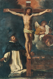 Crucifix and St. Peter Martyr Giclee Print by  il Guercino