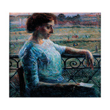 The Sister at the Balcony Giclee Print by Boccioni Umberto