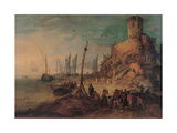 Sea Landscape with the Tomb of the Scipios Giclee Print by Jan Brueghel the Younger