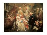 The Family of Procurator Luigi Pisani Reproduction procédé giclée par Alessandro Longhi