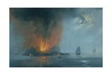 Night Island Ferdinandea Giclee Print by De Vito Camillo