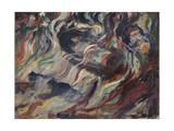 "States of Mind - The Farewells or Study for ""States of Minds"" - ""The Farewells"" Giclee Print by Umberto Boccioni"