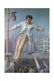 The Orator of the Strike or the Haranguer (L'Oratore Dello Sciopero O L'Arringatore) Giclee Print by Emilio Longoni