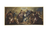 Virgin's Coronation Giclee Print by Gregorio Lazzarini