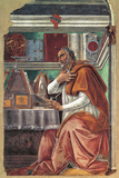 St Augustine in His Cell Giclee Print by Sandro Botticelli