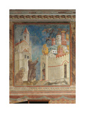 Stories of St Francis St Francis Drives the Devils Out of Arezzo Giclee Print by  Giotto di Bondone