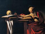 St Jerome Giclée-tryk af  Caravaggio