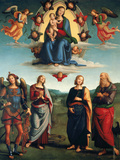 Landscape with Silvia and Satyr Giclee Print by  Perugino