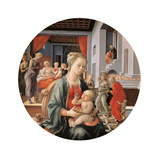 Virgin with the Child and Scenes From the Life of St Anne Giclee Print by Filippo Lippi