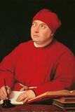 Cardinal Tommaso Inghirami Giclée-tryk af Raffaello Sanzio