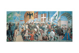 The Legend of the Cross Defeat and Beheading of Chosroes (Battle of Heraclius Against Chosroes) Giclee Print by Pietro di Benedetto