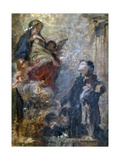 Study for Saint Luis and Virgin Mary Giclee Print by Demetrio Cosola