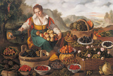 The Female Greengrocer Giclee Print by Vincenzo Campi