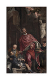 St Pantaleon Healing a Child Giclée-Druck von  Veronese