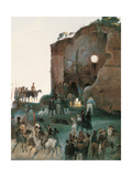 The Artists Party Near Tor De Schiavi Giclee Print by Ippolito Caffi