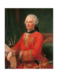 Portrait of the Minister Guillaume Du Tillot Giclee Print by Pietro Melchiorre Ferrari