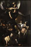 Seven Works of Mercy Giclée-tryk af Caravaggio