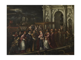 The Doge and the Patriarch Welcoming Henri III Giclee Print by Andrea Vicentino