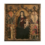 Madonna with Child the Stigmata of St Francis Giclee Print by Arcangelo di Cola da Camerino
