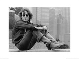 John Lennon (Sitting - Bob Gruen) Poster