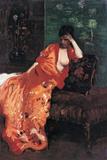 Woman on the Sofa (Donna Sul Divano) Reproduction procédé giclée par Giuseppe De Nittis