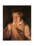 Boy Lighting a Candle (Boy Blowing on An Ember) Giclee Print by  El Greco