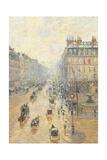 Avenue De LOpra. Snow Effect. Morning Giclee Print by Camille Pissarro